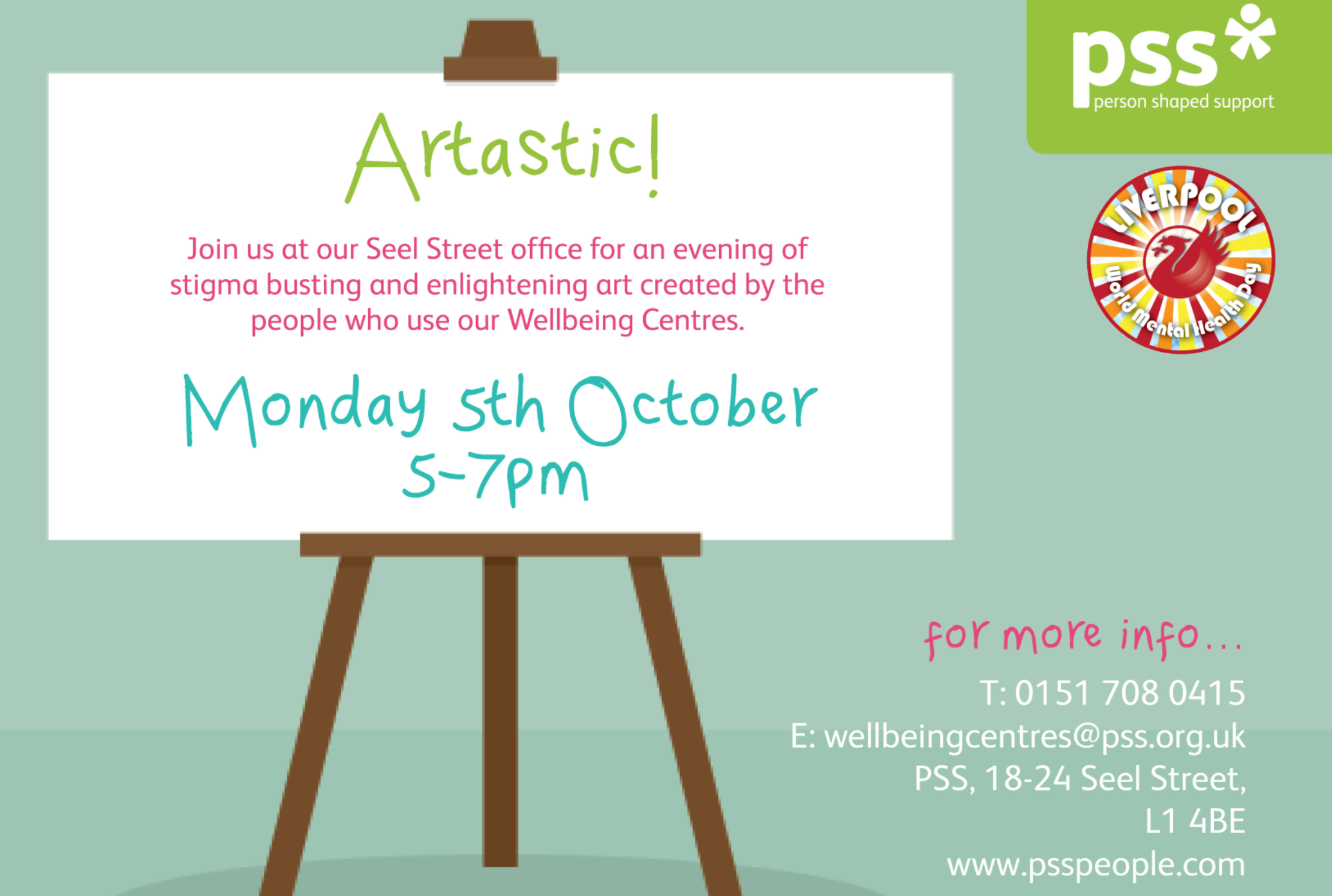 Heres A Date For Your Diary To Celebrate World Mental Health Day PSS Are Hosting An Art Exhibition In The Head Office Seel Street On Monday 5 October